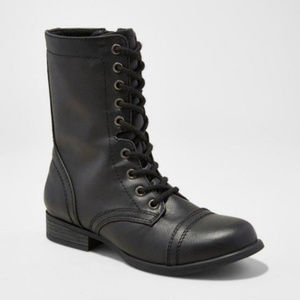 Mossimo Supply Black Combat Booties